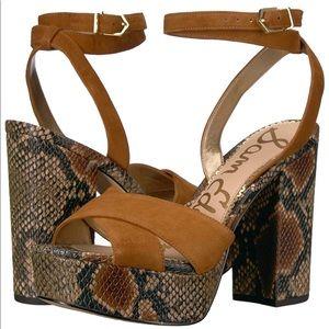 Sam Edelman Mara Platform Sandal Snakeskin print
